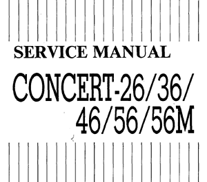 KORG Concert 26, 36, 46, 56, 56m Schematic Diagram Service