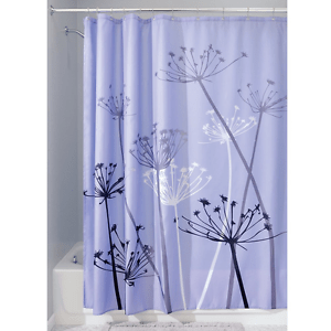 interdesign thistle fabric shower curtain 72 x 72 inch purple gray