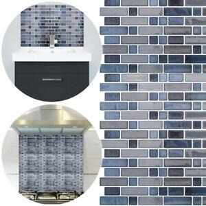 details about rectangle mosaic wall tile cut to size peel stick 26cm trim bathroom kitchen