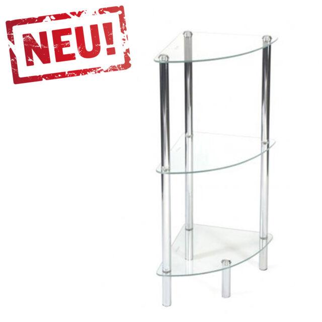 chrome etagere de salle bain en verre tablette etagere verticale avec 3
