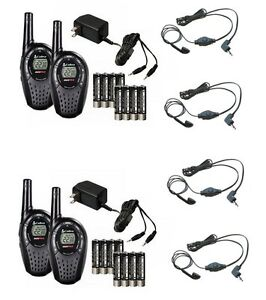 (4) NEW COBRA CXT235 MicroTalk 20 Mile Walkie Talkie 2-Way