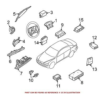 For BMW Genuine Air Bag Seat Sensor Mat Rear 65776970904