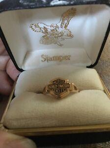 Harley Davidson Diamond Ring : harley, davidson, diamond, Harley, Davidson, Silhouette, R7094/60, Yellow