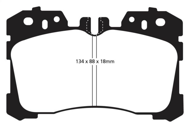 Disc Brake Pad Set-EBC Greenstuff 2000 Series Sport Brake