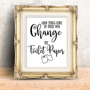 Funny Bathroom Wall Art Print Farmhouse Decor Picture Signs Quotes Gag Gift Ebay