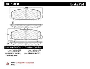 Disc Brake Pad Set fits 2006-2012 Nissan Armada Titan C
