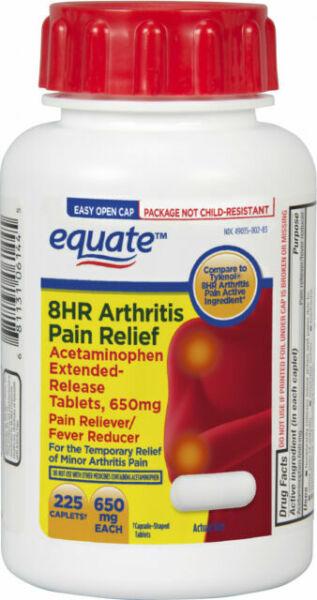 EQUATE 8hr Arthritis Pain Relief 650mg 225 Caplets Acetaminophen for sale online | eBay