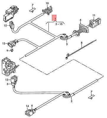 Genuine AUDI A3 S3 Sportback Lim. quattro. 8PA wiring set