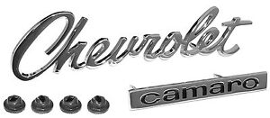 1967 CAMARO HEADER PANEL EMBLEM # 67C-16720-CA