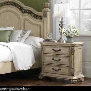 queen anne bedroom furniture Nightstand Queen Anne Antique Style Bed Side Table Bedroom