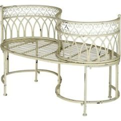 Tete A Chair Outdoor Corner Chairs Ikea Kissing Bench Curved Metal Garden Vintage Image Is Loading