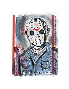 Jason Friday The 13th Drawing : jason, friday, drawing, Friday, Jason, Horror, Street, Graffiti, Sticker, Drawing, Priority