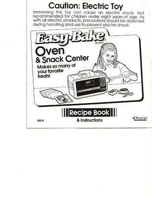 Kenner Easy-Bake Oven & Snack Center Recipe Book