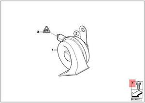 Genuine MINI Cooper One R50 R52 R53 Coop.S JCW GP S Horn