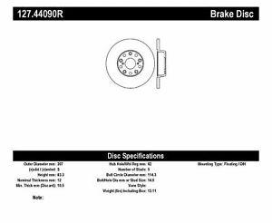 StopTech Sport Disc Brake Rear Right For 98-10 Lexus GS