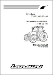 Landini Powerfarm 60 65 75 85 95 105 Tractor Repair