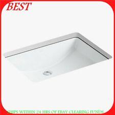 kohler 125880 undermount bathroom sink white