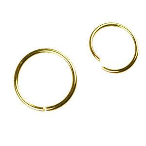 0,8mm Gold Rosegold Nasenpiercing Ring zum Aufbiegen Nasenring Piercing Easy on