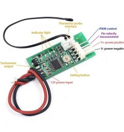 details about pwm 4 wires fan temperature controller speed governor dc 12v for pc fan alarm [ 1000 x 1000 Pixel ]
