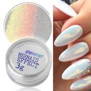 mermaid effect glitter nail art