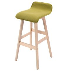 Round Wooden Chair Steel Egg Us Linen Bar Stool Dining Counter Barstools