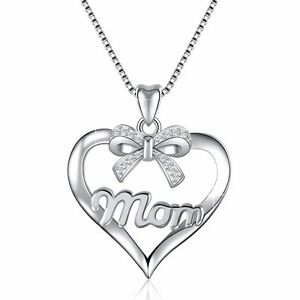 European 925 Jewelry Bow-knot & MOM Silver Charms Pendant