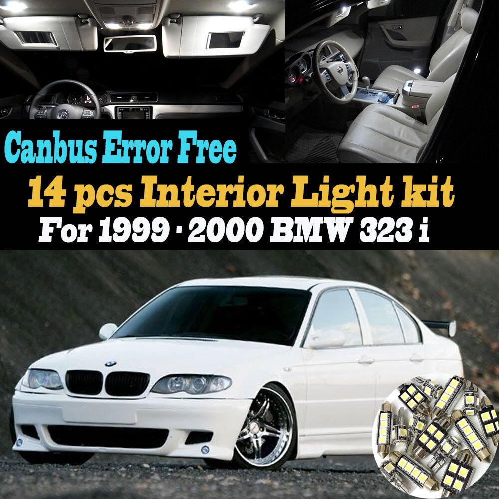 medium resolution of 14pc 1999 2000 bmw 323i canbus error free super white car interior led light kit