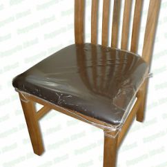 Clear Plastic Chair Covers For Dining Chairs Ikea Corner Strong Protectors Cushion Seat Protection | Ebay