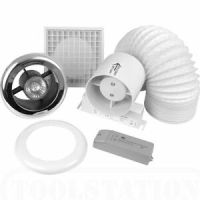 Bathroom/Shower Extractor Fan Light Kit With Timer - Low ...