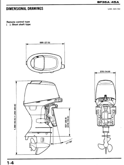 OEM Honda Marine BF35A BF45A Outboard Motors Shop Manual