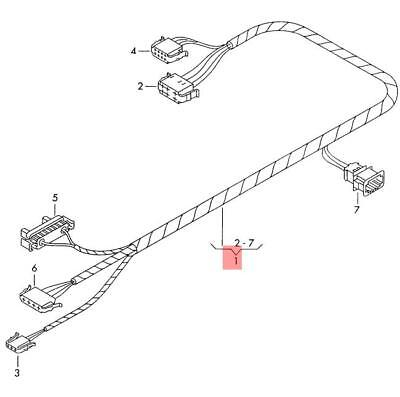 Genuine VW Beetle Cabrio Wiring Harness For Heater