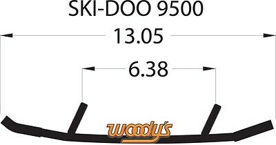 WOODYS SKI-DOO WEAR BARS RODS RUNNERS EXPEDITION FREERIDE