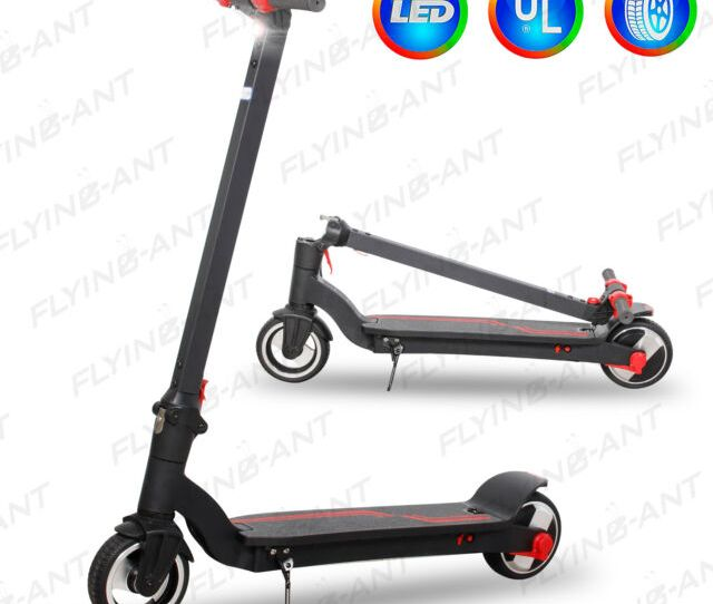 Megawheels Folding Electric Scooter W Aluminum Portable Red Teens E Scooter