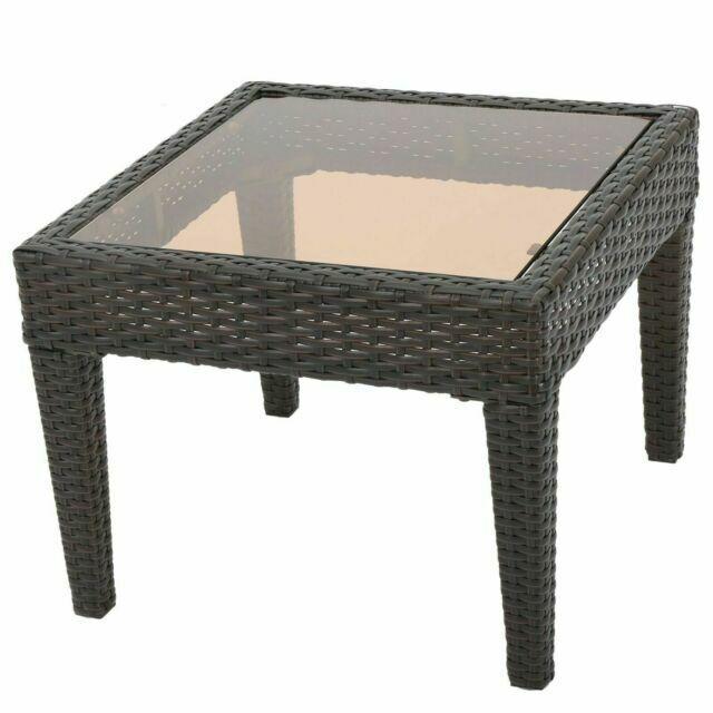 great deal furniture caspian outdoor brown wicker side table
