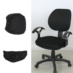 desk chair cover swivel no wheels universal stretch rotating pure color for computer image is loading