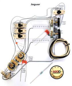 Fender Vintage '62 Jaguar Wiring Kit  Pots Switch Slider Caps Bracket Diagram 759681034957 | eBay