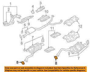 details about hyundai oem 07 12 veracruz 3 8l v6 exhaust rear muffler gasket 287512b100