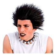 unisex punk wig rock black hair