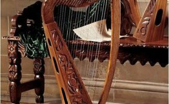 Medieval Celtic Rosewood Replica Hand Carved 22 String