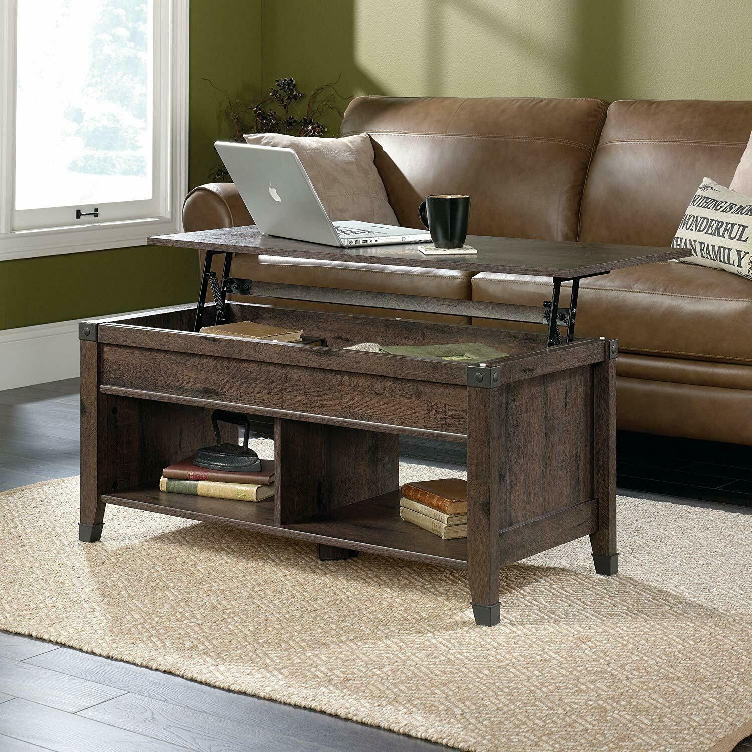 coffee table w lift top trunk flip up storage cubes wood cocktail tables desk