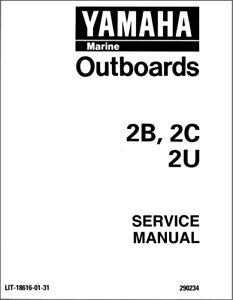 1995-2001 Yamaha 2 Hp 2-Stroke ( 2B 2C 2T 2U ) Outboard