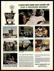 1966 Holiday Inn Vintage Print Ad Hotel Family Weekend Traveling Vacation 1960s Ebay