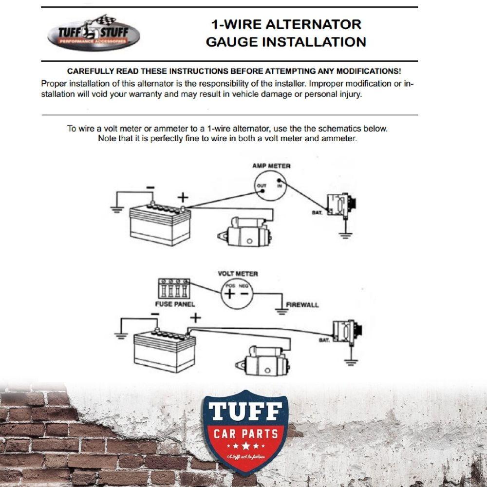medium resolution of tuff stuff alternator wiring diagram