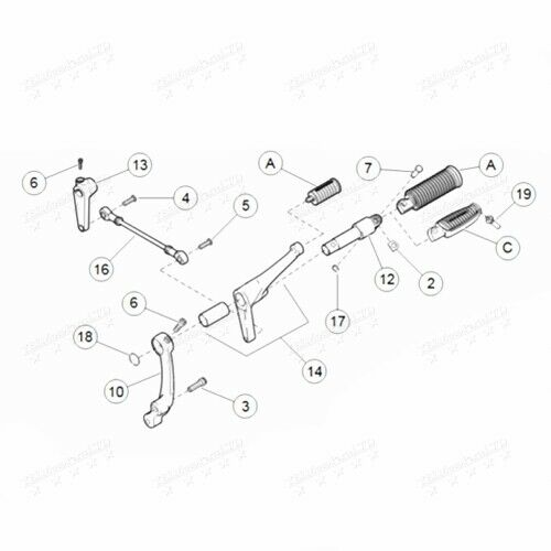 Conl Foot Pegs Levers Linkages for Harley Sportster XL