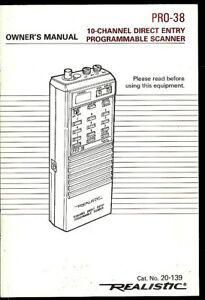 Realistic PRO-38 Programmable Scanner Receiver Original