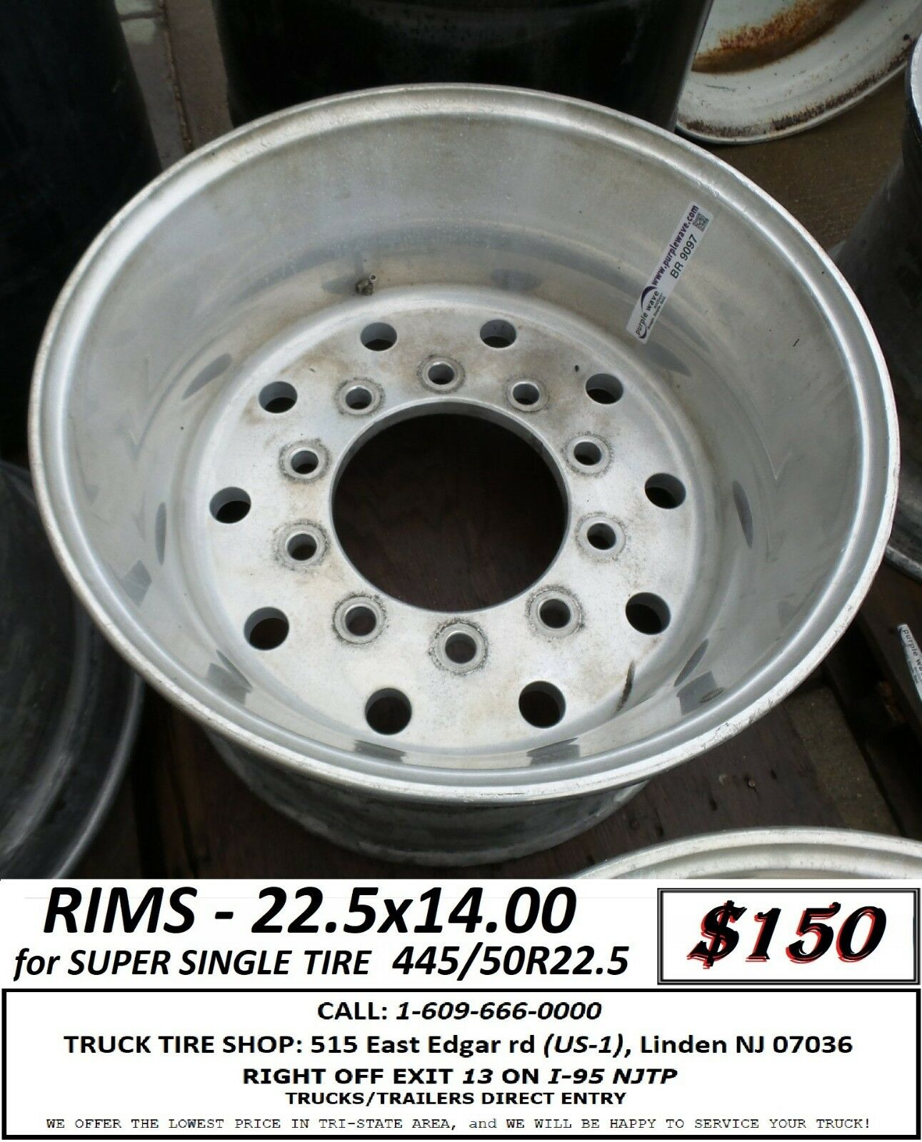 Super Single Tires For Sale : super, single, tires, TRUCK, 22.5x14.00, SUPER, SINGLE, 445/50R22.5, Alcoa, Online