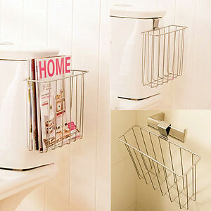 Bathroom Toilet Mount Shelf Magazine Book Holder NEWS Rack