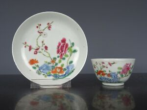 Very Nice Chinese Porcelain Fencai Cup&Saucer-Flo