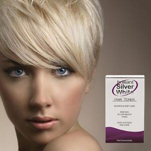 brilliant silver white magic hair toner for platinum blonde grey white hair ebay