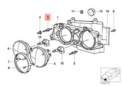 Genuine BMW E32 E34 Sedan Wagon Adjusting Screw OEM